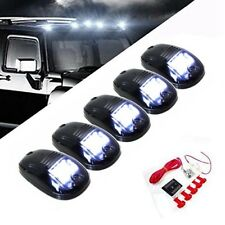 5x Black Smoked Cab Roof Top LED Marker Running Lights Truck Pickup SUV White