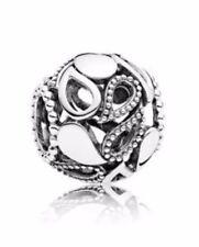 Genuine Pandora Sterling Silver Teardrop Ball Charm Gift Boxed