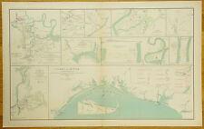 AUTHENTIC CIVIL WAR MAP~ RICHMOND VA. - ATLANTA GA. CMPGN. - TEXAS DEFENSES-1864