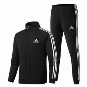 2021 UK Mens Adidas Tracksuit Suit 2Pcs/Set Pants Track Jacket Top S-3XL