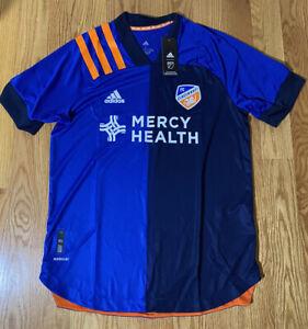 Adidas Cincinnati FC MLS Blue Jersey Men Large NWT 2021 Official Soccer