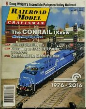 Railroad Model Craftsman April 2016 The Conrail I Know Big Blue FREE SHIPPING sb