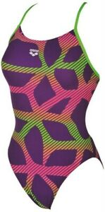 Arena Spider Booster Up Purple/Multicolor One Piece Practice Training Swimwear