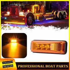 Amber 3.9In LED Side Marker Clearance Lights 12V Truck RV Trailer Indicator Lamp