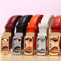 Fashion Butterfly Women Genuine Leather Belt Waistband Auto Buckle Waist Strap#B