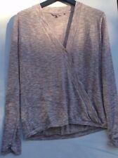 Next Ladies Beige Wrap VNeck Jumper Top Pullover Long Sleeve Cardigan Size 14/42