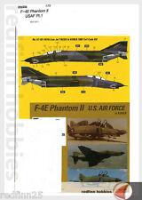 Monokio F-4E Phantom II USAF Part 1 1/72 decals