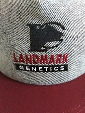 New LANDMARK GENETICS Snapback Trucker Hat Embroidered AMERICA'S LEGEND USA