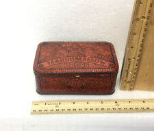 Vintage Marshmallow Drops Tin Red Tin Box Ginna & Co. N.Y. Candy Box