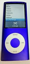 Good Used Working Apple iPod Nano 4th Generation 8GB A1285 MP3 Player Purple