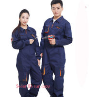 Mens Womens Workwear Boilersuit Coverall Overall Tuff Work Jumpsuit Navy Pants@