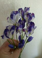 "18""  mini iris bush, silk flower arrangements, floral arrangements"