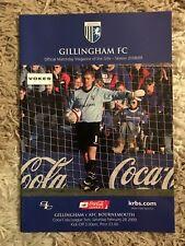Gillingham v AFC Bournemouth - Coca~Cola League 2 2008/09 Programme