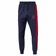 New Mens PUMA Slim Sweat Pants Tracksuit Bottoms Jogging Trackies Joggers - Navy