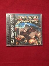 Sony PlayStation PS1 Video Game Star Wars Episode I Jedi Power Battles Rated T