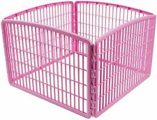 "IRIS USA 24"" Pet Playpen Exercise 4-Panel Without Door 8 SQ ft Play Space"