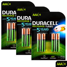 12x Duracell Rechargeable AAA batteries 850 mAh NiMH LR03 HR03 ACCU DX2400 phone