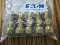 Eaton air brake fitting 1468X4X4 Package of 5 new sealed Brass tubing connectors