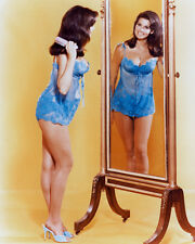 Raquel Welch 16X20 Poster Skimpy Neglige In Mirror
