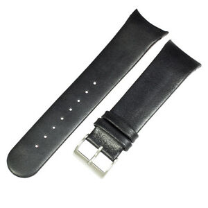 Genuine leather black band to fit 808XLSLB SKAGEN watches