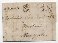 1787 Boston MA straightline 3.8 rate NY currency [45.30]