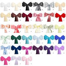 50 pcs Satin Chair Cover Sash Bow, Wedding Party Décor, 33 Colors!