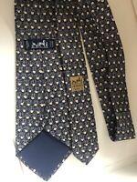 Cravatta Hermes Paris 7585 SA TIE LAZO NECKTIE SILK SOIE NEWS
