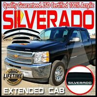 For 2007-2013 Silverado Extended Cab Window Rain Guards Deflectors Vent Visors