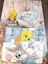 Baby Looney Tunes Nursery Crib Bedding Bugs  Plush Blanket Talking Tweety Rare