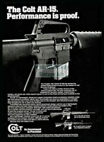 1982 COLT AR-15 Rifle and Carbine Vintage PRINT AD Collectible Advertising