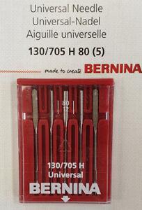 Bernina Genuine Universal Needles Size 80/12 Pack 5 130/705H 0025077108