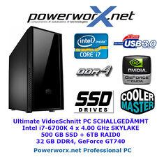 Professioneller Videoschnitt PC i7-6700K 32GB DDR4 500GB SSD Computer Rechner