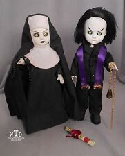 LDD living dead doll EXCLUSIVE * SINISTER MINISTER AND BAD HABIT * black purple