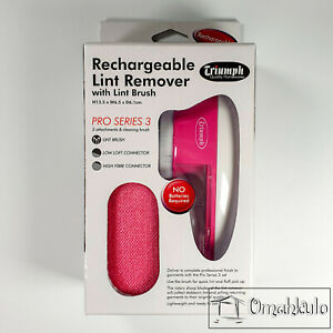 TRIUMPH - Rechargeable Lint Remover Pro Series 3 - Pink