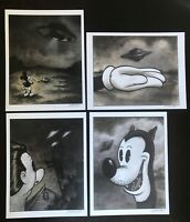 8.5x11 Set #4 UFO Signed prints By Frank Forte Pop Surrealism Cartoon Dark Art