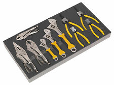 S01130 Siegen Tool Tray with Adjustable Wrench & Pliers Set 10pc [Tool Trays]