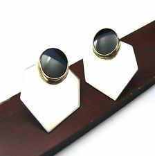 Onyx 14kt Sterling Silver Earrings New listing Very Rare! James Avery Geometric