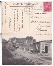 1910 Austria offices in Crete #16 on Smyrna no.3 Post Card,Smyrna to Jerusalem*d
