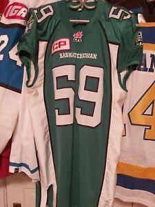 Game worn / used cfl Randy Richards Saskatchewan rough riders jersey nice Nfl 👌