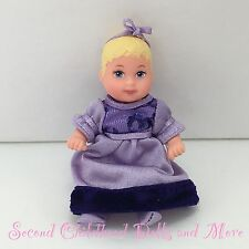 KRISSY BABY DOLL Barbie Sister in Purple Formal Dress w Diaper, Bow & Booties SC