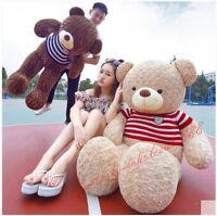 63'' Giant Teddy Bear Toys Plush Soft Huge Brown Big Doll Stuffed Birthday Gifts
