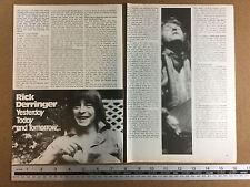 Rick Derringer guitarist - article from 1977