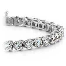 Round Cut Diamond Tennis Bracelet 3.00 CT 14k White Gold Natural Certified Gift