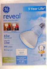 GE 65 Watt CFL R30 Light Bulb FLE15R30/RVL/BX #7ec