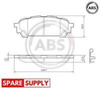 BRAKE PAD SET, DISC BRAKE FOR SUBARU A.B.S. 37611
