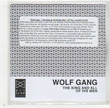 (GD365) Wolf Gang, The King & All Of His Men - 2009 DJ CD
