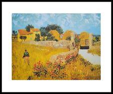 Vincent van Gogh Bauernhof in der Provence Poster Kunstdruck im Rahmen 24x30cm