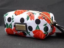 NWT Betsy Johnson White Polka Dot Flower Floral Boxed Wristlet Cosmetic Bag