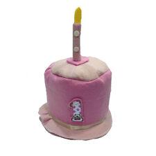 1 ANNO cappello cilindro rosa numero e 1 candelina feste e party made in italy