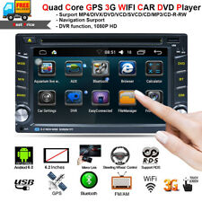 GPS Car Radio Stereo DVD Player Double 2DIN WIFI 4G Android 6.0 Quad Core 6.2""